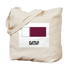 Qatar Flag Tote Bag
