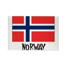 Norway Flag Rectangle Magnet