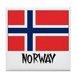 Norway Flag Tile Coaster