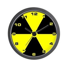 Funny Radioactive Wall Clock