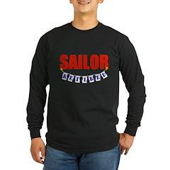 Retired Sailor Long Sleeve Dark T-Shirt