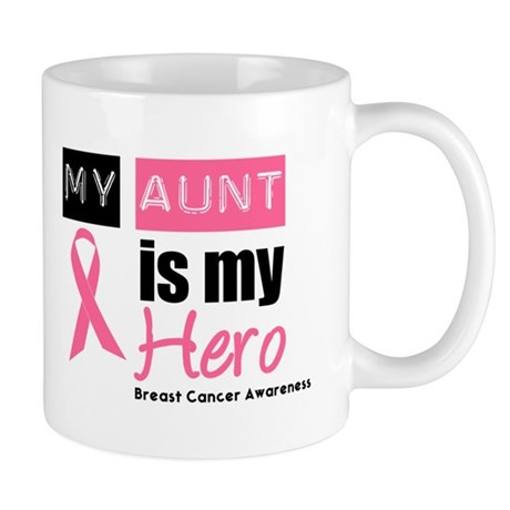 Breast Cancer Hero Aunt Mug