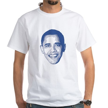 Obama Face White T-Shirt