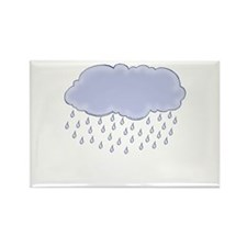 Cute Rainclouds Picture 2 Rectangle Magnet