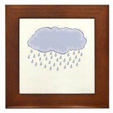 Cute Rainclouds Picture 2 Framed Tile