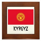 Kyrgyz Flag Framed Tile