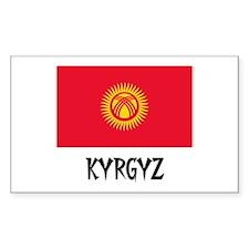 Kyrgyz Flag Rectangle Decal