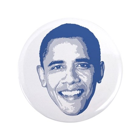 "Obama Face 3.5"" Button"