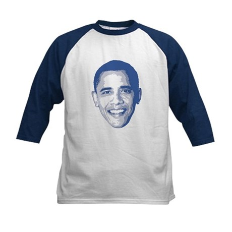 Obama Face Kids Baseball Jersey