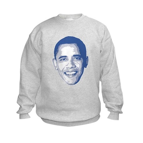 Obama Face Kids Sweatshirt