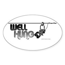 Well Hung Oval Sticker (10 pk)