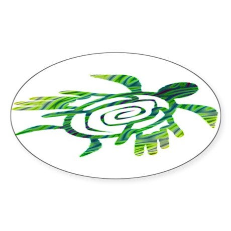 Winged Turtle Sticker (Oval)