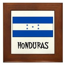 Honduras Flag Framed Tile