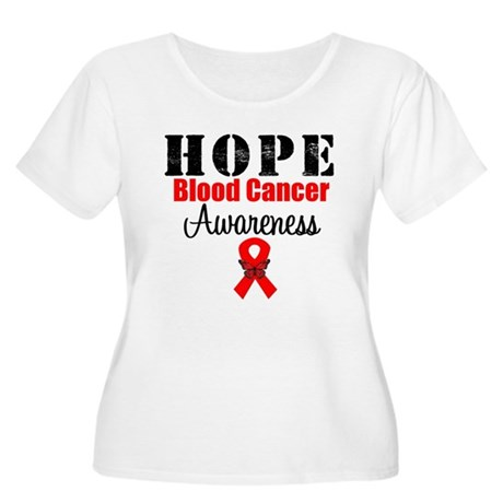Blood Cancer Hope Women's Plus Size Scoop Neck T-S