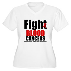 Fight Blood Cancers Women's Plus Size V-Neck T-Shi