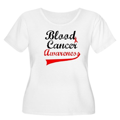 Blood Cancer Grunge Women's Plus Size Scoop Neck T