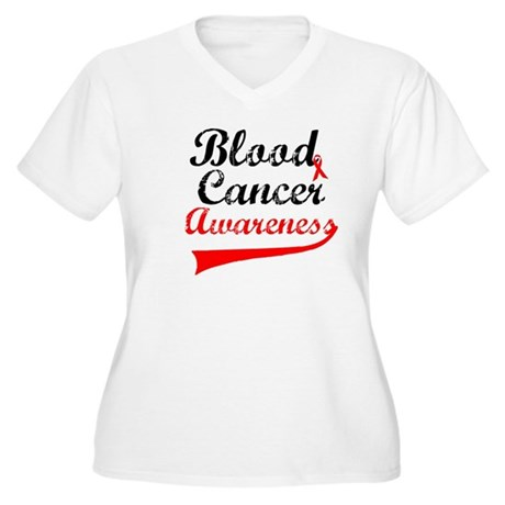Blood Cancer Grunge Women's Plus Size V-Neck T-Shi