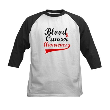 Blood Cancer Grunge Kids Baseball Jersey