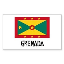 Grenada Flag Rectangle Decal
