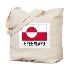 Greenland Flag Tote Bag