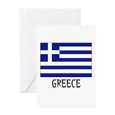 Greece Flag Greeting Card