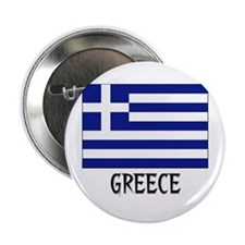 """Greece Flag 2.25"""" Button (10 pack)"""