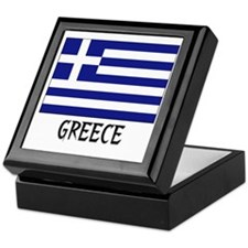 Greece Flag Keepsake Box