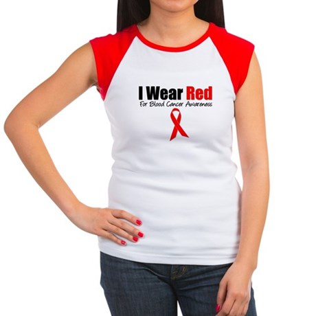 IWearRed Blood Cancer Women's Cap Sleeve T-Shirt