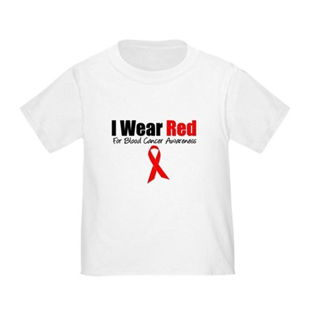 IWearRed Blood Cancer Toddler T-Shirt