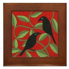 Two Crows Framed Tile