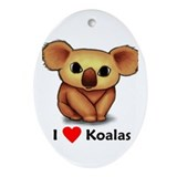 I love Koalas Oval Ornament