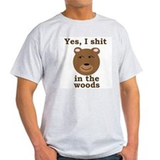 Does a bear shit in the woods? Ash Grey T-Shirt