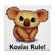 Koalas Rule! Tile Coaster