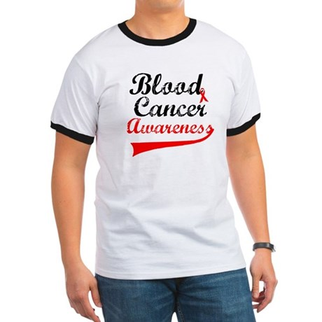 Blood Cancer Grunge Ringer T
