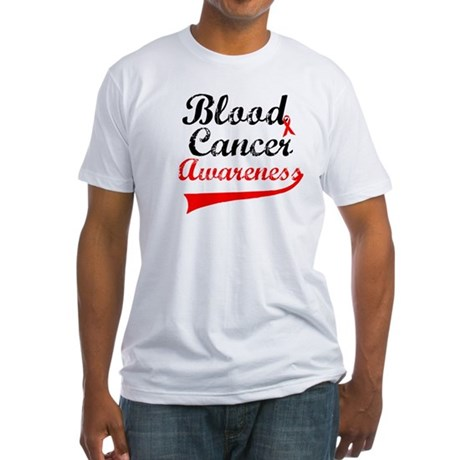 Blood Cancer Grunge Fitted T-Shirt