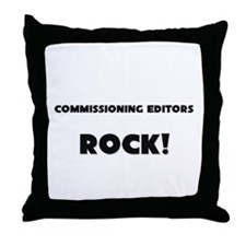 Commissioning Editors ROCK Throw Pillow