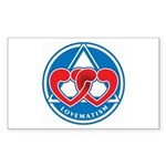 LOVEMATISM Rectangle Sticker 50 pk)