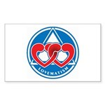 LOVEMATISM Rectangle Sticker 10 pk)