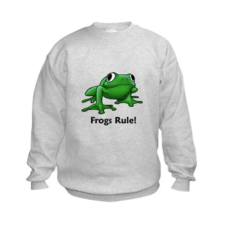 Frogs Rule! Kids Sweatshirt