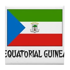 Equatorial Guinea Flag Tile Coaster