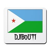 Djibouti Flag Mousepad