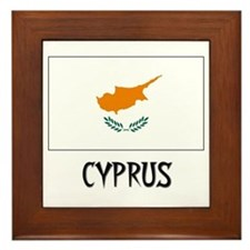 Cyprus Flag Framed Tile