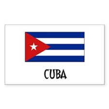 Cuba Flag Rectangle Decal