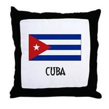 Cuba Flag Throw Pillow
