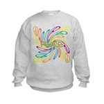 Peace Signs Kids Sweatshirt