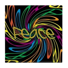 Peace Signs Tile Coaster