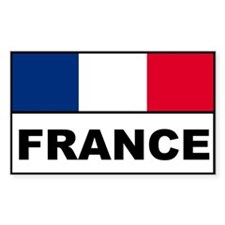 France french flag banner Rectangle Decal