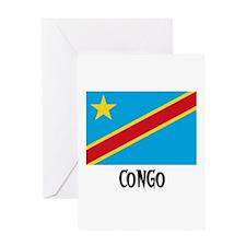 Congo Flag Greeting Card