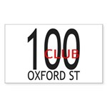 The 100 Club Oxford ST Rectangle Sticker 10 pk)