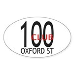 The 100 Club Oxford ST Oval Sticker (10 pk)